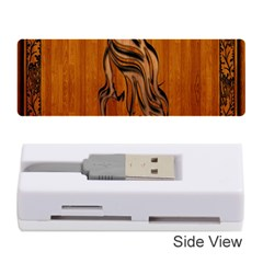 Pattern Shape Wood Background Texture Memory Card Reader (stick)