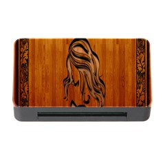 Pattern Shape Wood Background Texture Memory Card Reader With Cf