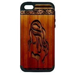 Pattern Shape Wood Background Texture Apple iPhone 5 Hardshell Case (PC+Silicone)