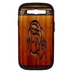 Pattern Shape Wood Background Texture Samsung Galaxy S III Hardshell Case (PC+Silicone)