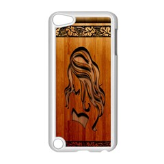 Pattern Shape Wood Background Texture Apple iPod Touch 5 Case (White)