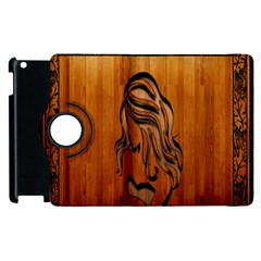 Pattern Shape Wood Background Texture Apple iPad 3/4 Flip 360 Case