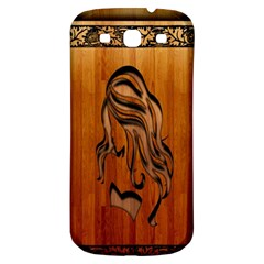 Pattern Shape Wood Background Texture Samsung Galaxy S3 S III Classic Hardshell Back Case