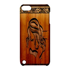 Pattern Shape Wood Background Texture Apple iPod Touch 5 Hardshell Case with Stand