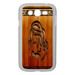 Pattern Shape Wood Background Texture Samsung Galaxy Grand Duos I9082 Case (white)