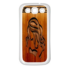 Pattern Shape Wood Background Texture Samsung Galaxy S3 Back Case (White)