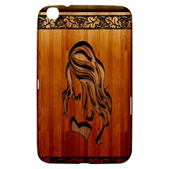 Pattern Shape Wood Background Texture Samsung Galaxy Tab 3 (8 ) T3100 Hardshell Case