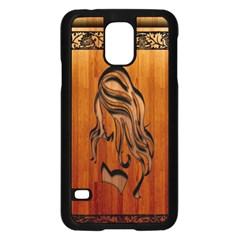 Pattern Shape Wood Background Texture Samsung Galaxy S5 Case (Black)