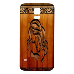 Pattern Shape Wood Background Texture Samsung Galaxy S5 Back Case (white)
