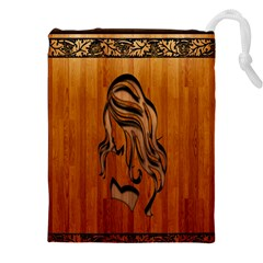 Pattern Shape Wood Background Texture Drawstring Pouches (XXL)