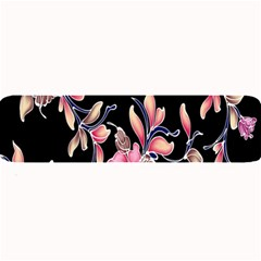 Neon Flowers Black Background Large Bar Mats