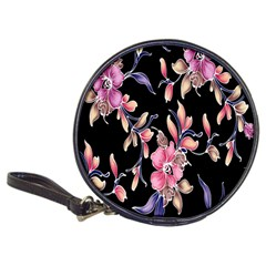 Neon Flowers Black Background Classic 20-CD Wallets