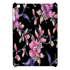Neon Flowers Black Background Apple iPad Mini Hardshell Case
