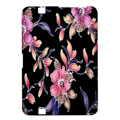 Neon Flowers Black Background Kindle Fire HD 8.9