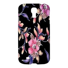 Neon Flowers Black Background Samsung Galaxy S4 I9500/I9505 Hardshell Case