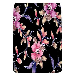 Neon Flowers Black Background Flap Covers (L)