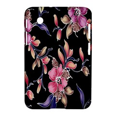 Neon Flowers Black Background Samsung Galaxy Tab 2 (7 ) P3100 Hardshell Case