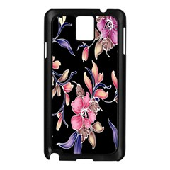 Neon Flowers Black Background Samsung Galaxy Note 3 N9005 Case (Black)