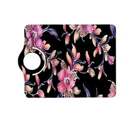 Neon Flowers Black Background Kindle Fire HD (2013) Flip 360 Case