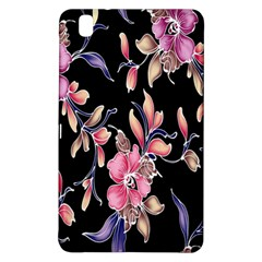 Neon Flowers Black Background Samsung Galaxy Tab Pro 8.4 Hardshell Case