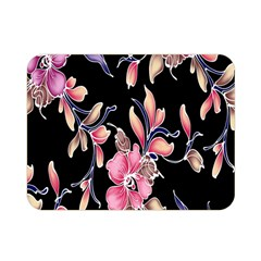 Neon Flowers Black Background Double Sided Flano Blanket (Mini)