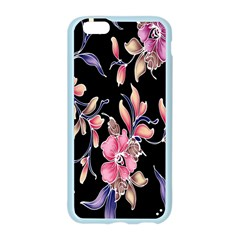 Neon Flowers Black Background Apple Seamless iPhone 6/6S Case (Color)