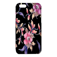 Neon Flowers Black Background iPhone 6/6S TPU Case