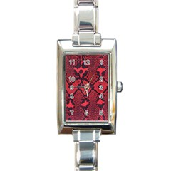 Leather Point Surface Rectangle Italian Charm Watch