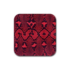 Leather Point Surface Rubber Coaster (square)