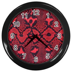 Leather Point Surface Wall Clocks (black)