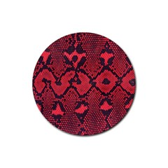 Leather Point Surface Rubber Coaster (Round)