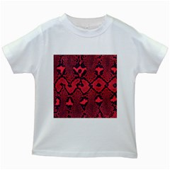 Leather Point Surface Kids White T Shirts