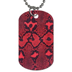 Leather Point Surface Dog Tag (two Sides)