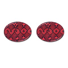 Leather Point Surface Cufflinks (Oval)