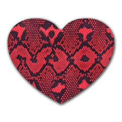 Leather Point Surface Heart Mousepads