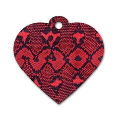 Leather Point Surface Dog Tag Heart (one Side)