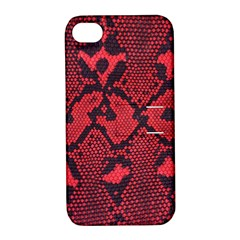 Leather Point Surface Apple iPhone 4/4S Hardshell Case with Stand