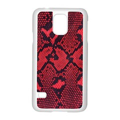 Leather Point Surface Samsung Galaxy S5 Case (White)