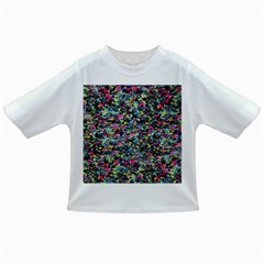 Neon Floral Print Silver Spandex Infant/Toddler T-Shirts
