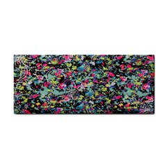 Neon Floral Print Silver Spandex Cosmetic Storage Cases