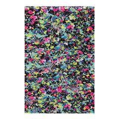 Neon Floral Print Silver Spandex Shower Curtain 48  x 72  (Small)
