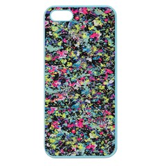 Neon Floral Print Silver Spandex Apple Seamless iPhone 5 Case (Color)