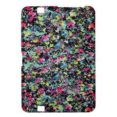 Neon Floral Print Silver Spandex Kindle Fire HD 8.9