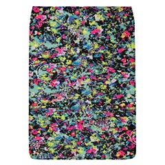 Neon Floral Print Silver Spandex Flap Covers (S)
