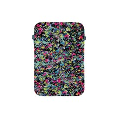 Neon Floral Print Silver Spandex Apple Ipad Mini Protective Soft Cases
