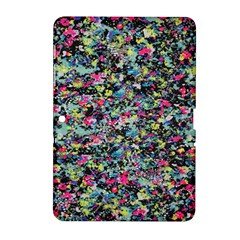 Neon Floral Print Silver Spandex Samsung Galaxy Tab 2 (10.1 ) P5100 Hardshell Case
