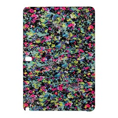 Neon Floral Print Silver Spandex Samsung Galaxy Tab Pro 12.2 Hardshell Case