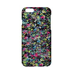 Neon Floral Print Silver Spandex Apple iPhone 6/6S Hardshell Case