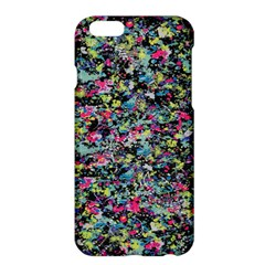 Neon Floral Print Silver Spandex Apple iPhone 6 Plus/6S Plus Hardshell Case