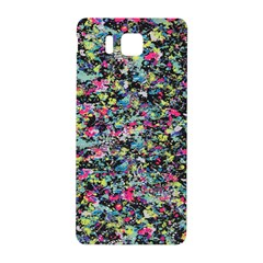 Neon Floral Print Silver Spandex Samsung Galaxy Alpha Hardshell Back Case